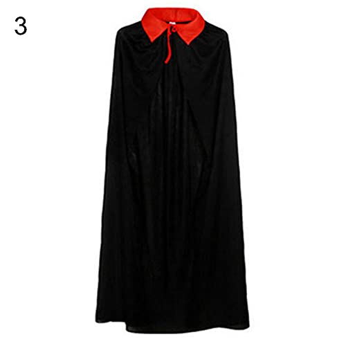 HEVIRGO Kids Halloween , Cloak, Cosplay Plush Cloak, Christmas Party Cape Dressing Up, Vampire Cape Devil Demon Reversible Cloak, Halloween Cloak, Fancy Dress Costume - 120cm 3