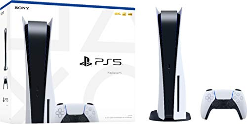 PS5 Playstation 5 (US Plug) Blu-ray Edition Console White 16GB GDDR6 Memory, 825GB SSD, 8K Output, HDR 4K TV Gaming, WiFi 6, Bluetooth 5.1, 120 fps with 120Hz, x86-64-AMD Ryzen Zen 8 Cores