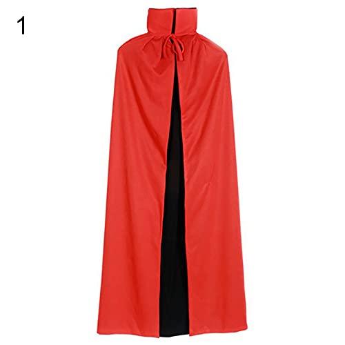 HEVIRGO Kids Halloween , Cloak, Cosplay Plush Cloak, Christmas Party Cape Dressing Up, Vampire Cape Devil Demon Reversible Cloak, Halloween Cloak, Fancy Dress Costume - 120cm 1