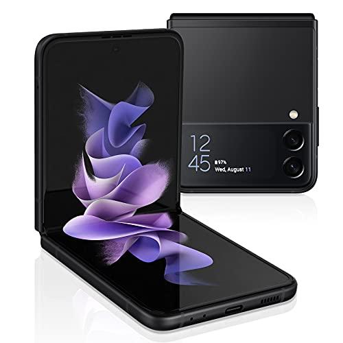 Samsung Electronics Galaxy Z Flip 3 5G Factory Unlocked Android Cell Phone US Version Smartphone Flex Mode Intuitive Camera Compact 256GB Storage US Warranty, Phantom Black