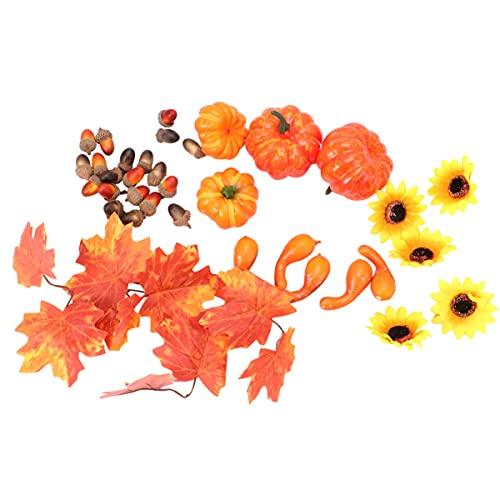 BESPORTBLE 130g Halloween Pumpkin Creative Artificial Desktop Decor for Thanksgiving