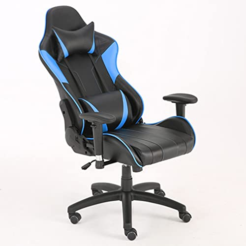 JJCF Gamer Chair,Gaming Chairs Massage,Ergonomic Gaming Chair, PC Gaming Chair,Gaming Chair with Footrest,Massage Game Chair for Adults Teens for Gaming Working Room Decor (Blue)