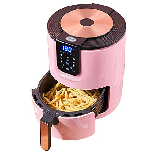 Air Fryers Home Pink Red Large-Capacity Automatic Multi-Function Oil-Free Electric Fryer Household Low-Fat French Fries Machine (Color : Pink, Size : 2533cm)