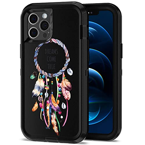 ACAGET Compatible with iPhone 12 Pro Max Case, Heavy Duty Protective Armor Shockproof Case Color Paint Dual Layer Rubber TPU + PC Cover Bumper Phone 6.7inch Cases for iPhone 12 Pro Max Black