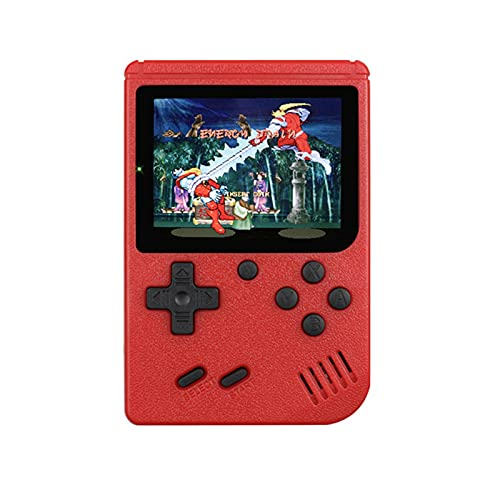 MMBH 400-in-1 Portable Retro Game Console Handheld Gaming 8-bit 3.0-inch Screen Handheld Game Console Supports TV Connection (Color : Red)