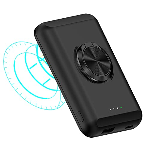 2 in 1 Magnetic Wireless Charger Fast Wireless Charging with 5000mAh Power Bank for iPhone 12 Pro Max/Mini【Mag Charger Included】 15W 7.5W 5W Fast Wireless Charging