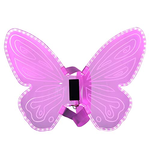1Pc Carnival Party Costume Performance Luminous Angel Wings Party Props by LIXFDJ