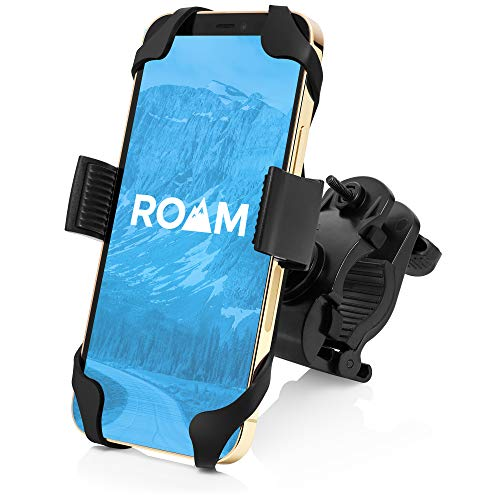Roam Universal Bike Phone Mount for Motorcycle - Bike Handlebars, Adjustable, Fits All iPhone's, 12, 11, X, iPhone 8, 8 Plus, All Samsung Galaxy Phones, S21, S20, S10, Holds Any Phone Up to 3.5' Wide