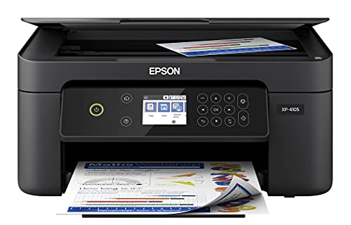 Epson Premium Expression Home XP 41 Series Small All-in-One Color Inkjet Printer I Print Copy Scan I Wireless I Mobile Printing I Auto 2-Sided Printing I 2.4' LCD I 10 ISO PPM (Renewed)
