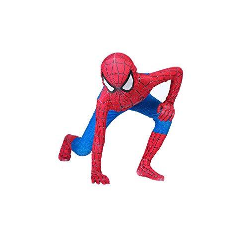 Superhero Kids Bodysuit Costumes Halloween Cosplay Costumes (Light Red, 110)