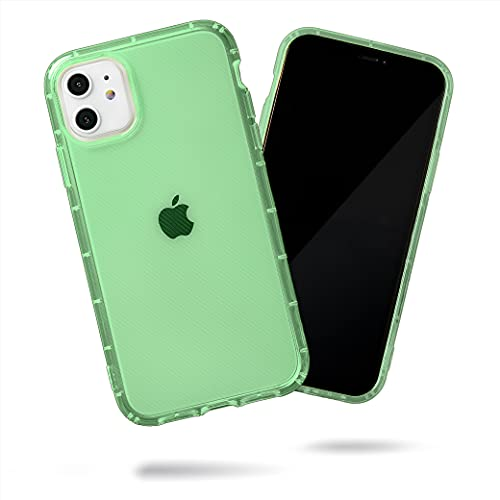 SteepLab Neon Highlighter Case for iPhone 11 (2019, 6.1' Screen) - The Grippy Jelly Case w/Protective Air Pockets (Precious Emerald Green)