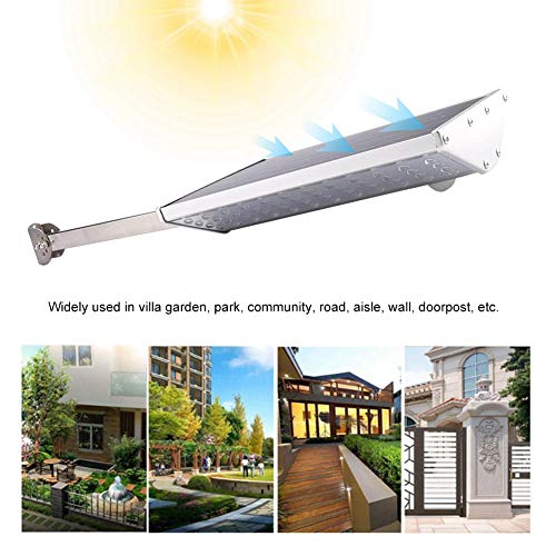 Solar Street Lamp, Outdoor Light Double Sided Luminescence Aluminum and Stainless Steel Save Energy for Courtyard