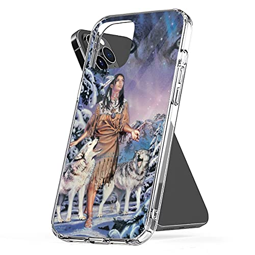 Phone Case Wolf Aesthetic Aurora Funny Shockproof Cover Compatible with iPhone 13 12 11 X Xs Xr 8 7 6 6s Plus Mini Pro Max Samsung Galaxy Note S9 S10 S20 Ultra Plus
